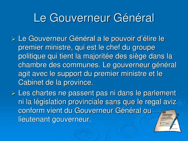 Le Gouverneur G