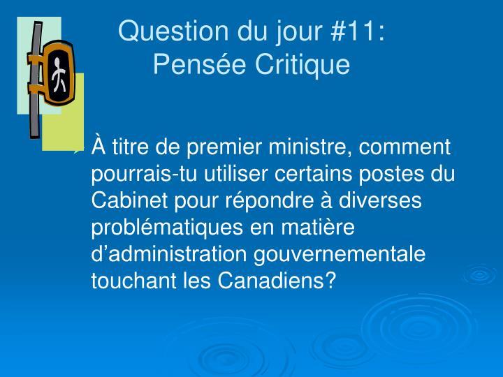 Question du jour #11: