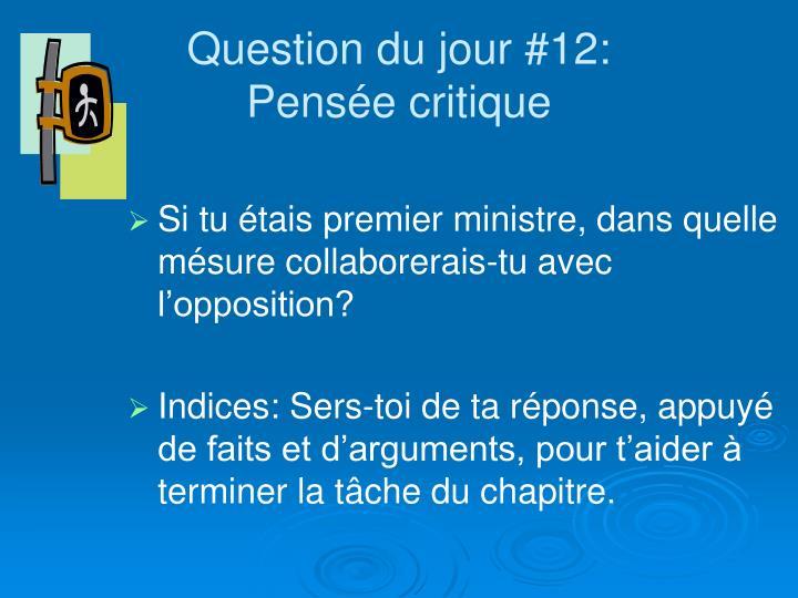 Question du jour #12: