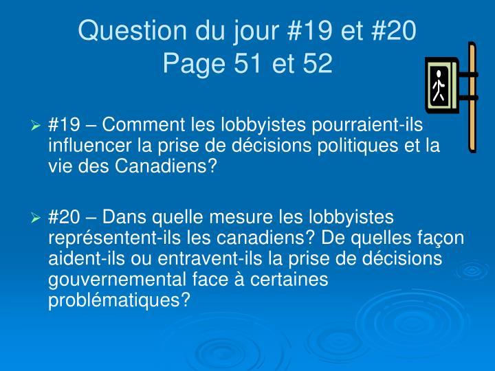 Question du jour #19 et #20
