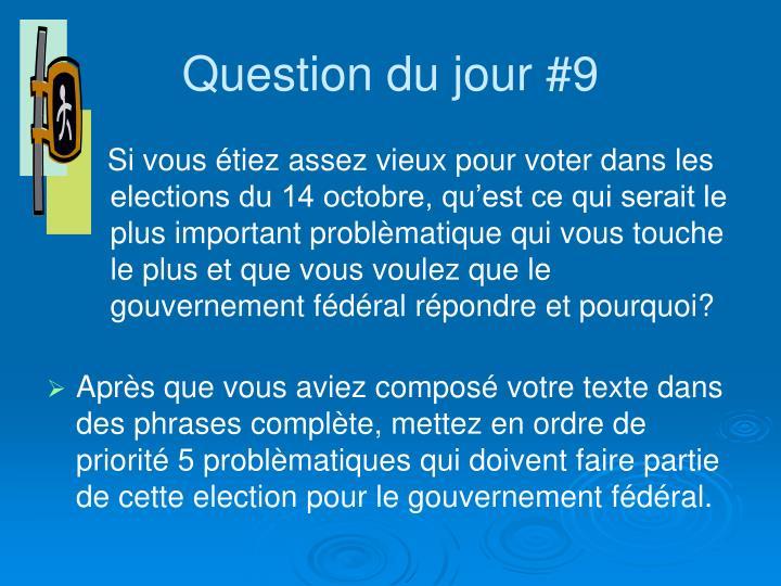 Question du jour #9