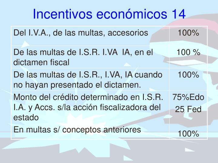 Incentivos económicos 14