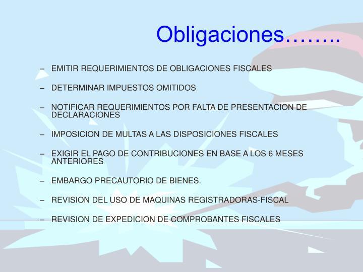 Obligaciones……..