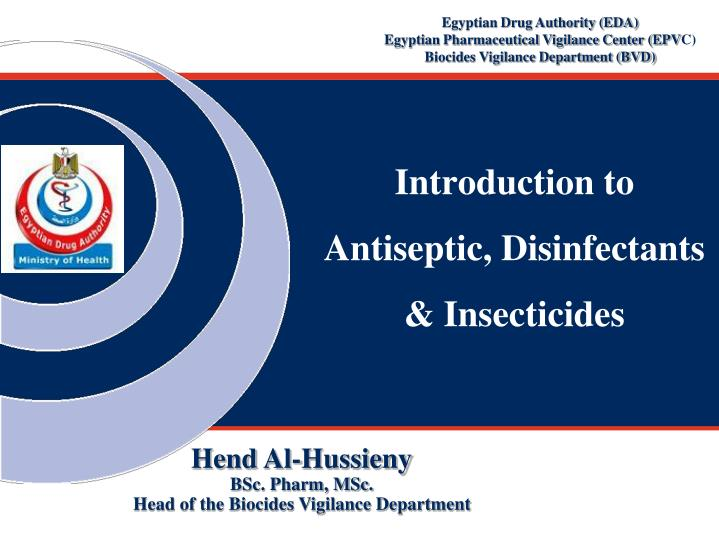 PPT - Introduction to Antiseptic, Disinfectants & Insecticides