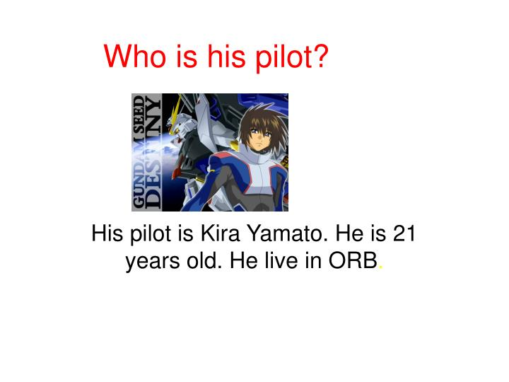 Who is his pilot?