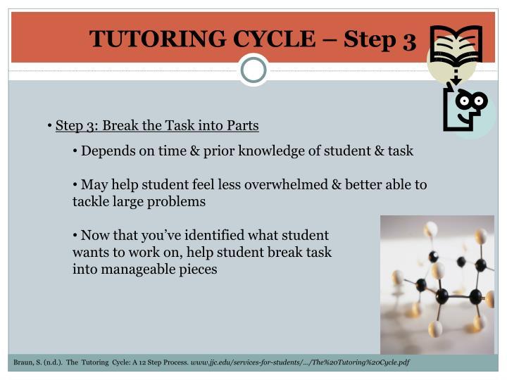 TUTORING CYCLE – Step 3