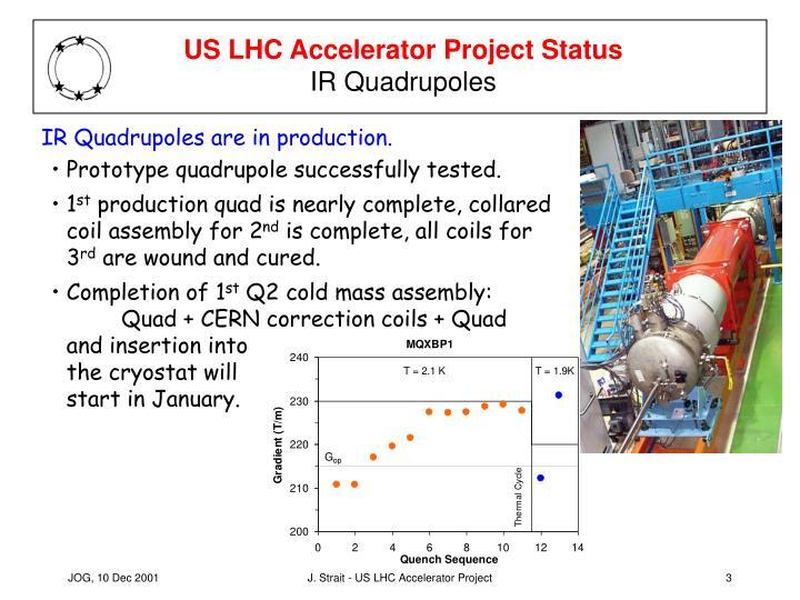 Us lhc accelerator project status ir quadrupoles