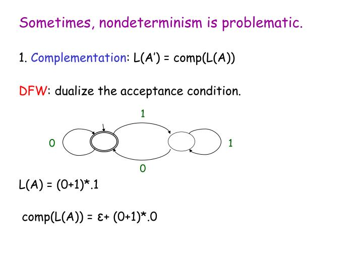 Sometimes, nondeterminism is problematic.