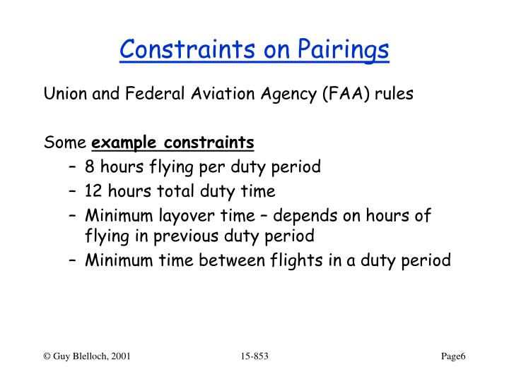 Constraints on Pairings