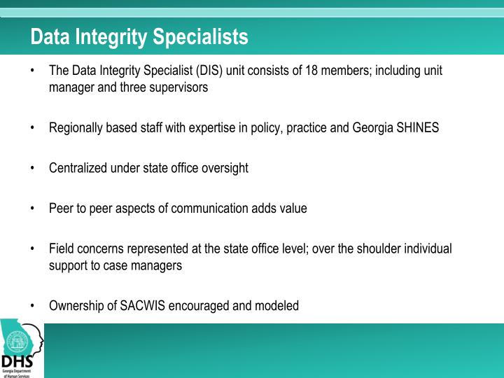 Data Integrity Specialists