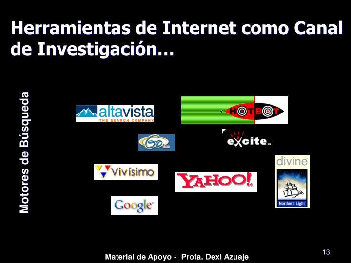Herramientas de Internet como Canal de Investigación…