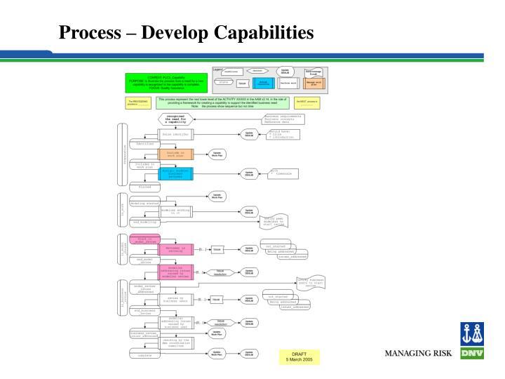 Process – Develop Capabilities