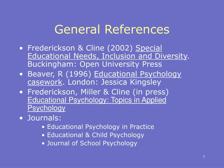 General References