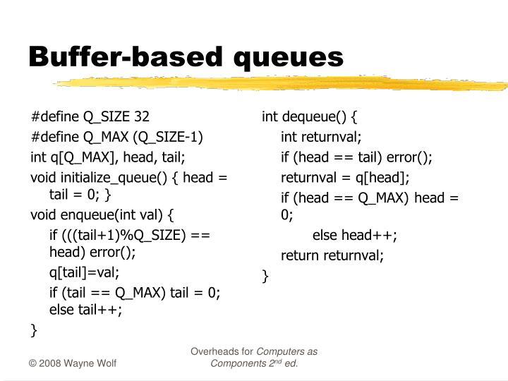 Buffer-based queues