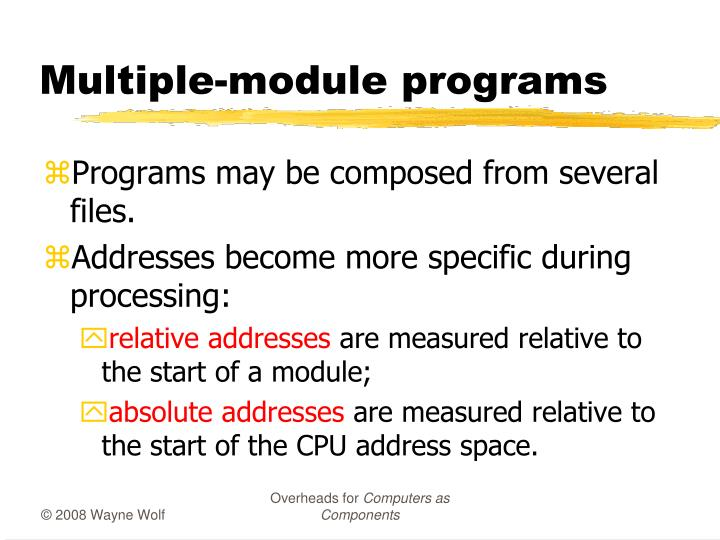 Multiple-module programs