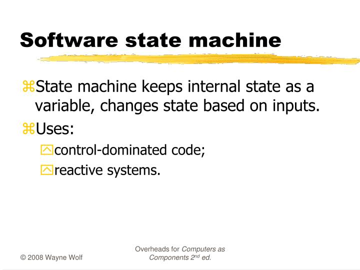 Software state machine