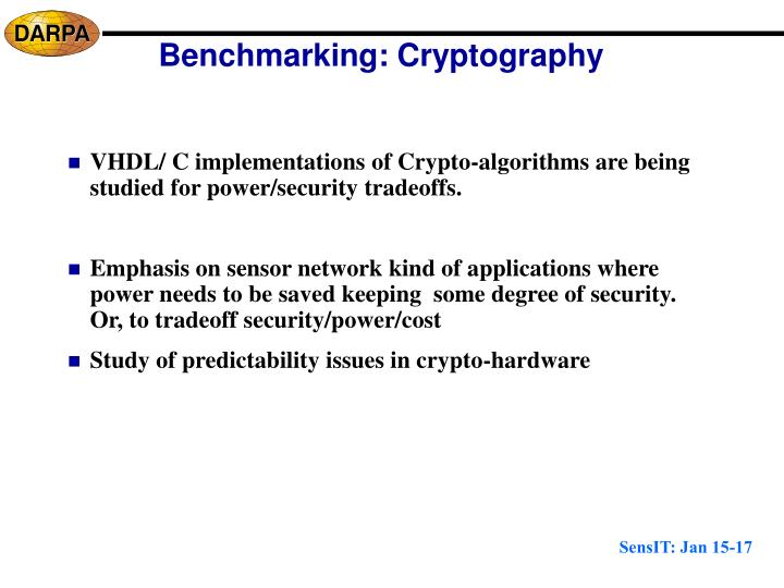 Benchmarking: Cryptography