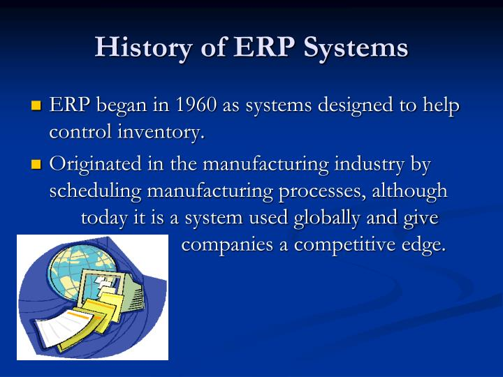 History of ERP Systems