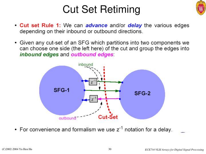 Cut Set Retiming