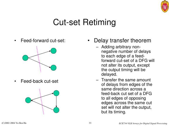 Feed-forward cut-set: