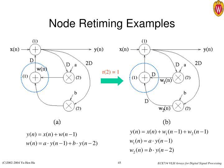 Node Retiming Examples