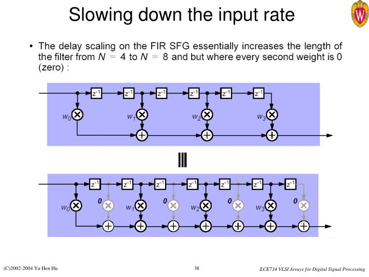 Slowing down the input rate