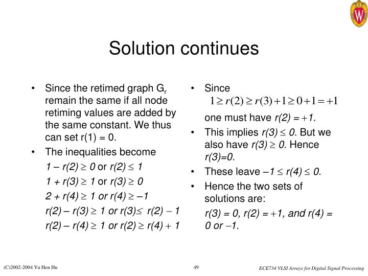 Since the retimed graph G