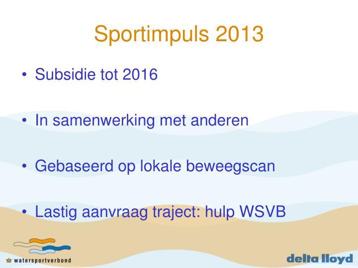 Sportimpuls 2013