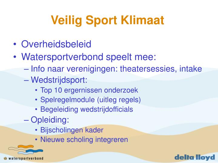 Veilig Sport Klimaat