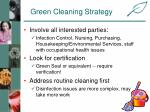 green cleaning strategy