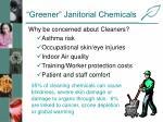 greener janitorial chemicals