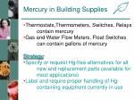 mercury in building supplies