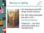 mercury in lighting