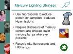 mercury lighting strategy