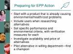 preparing for epp action
