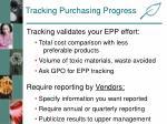 tracking purchasing progress