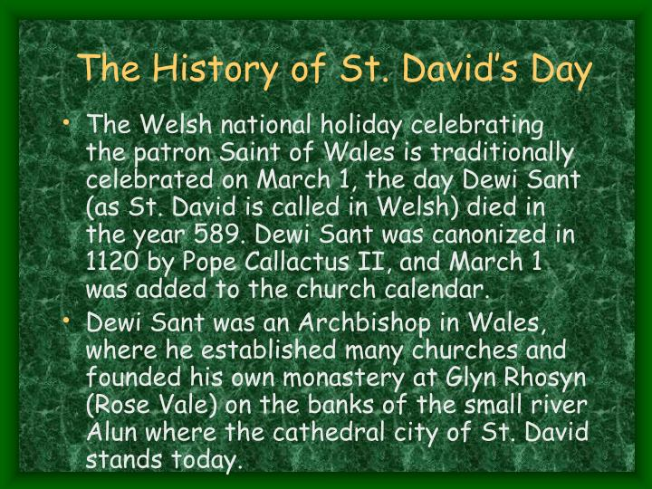 The History of St. David's Day