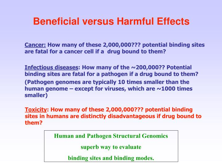 Beneficial versus Harmful Effects
