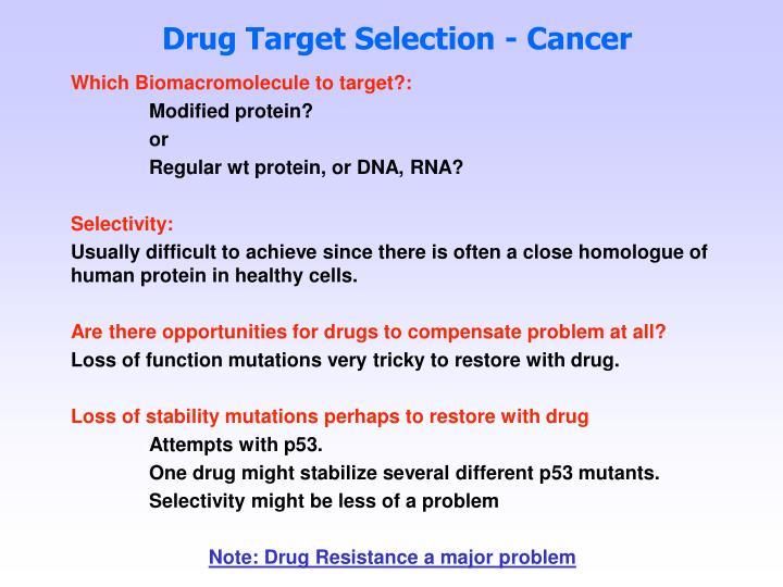 Drug Target Selection - Cancer