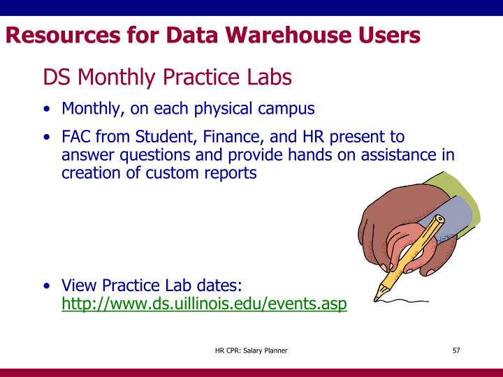 Resources for Data Warehouse Users