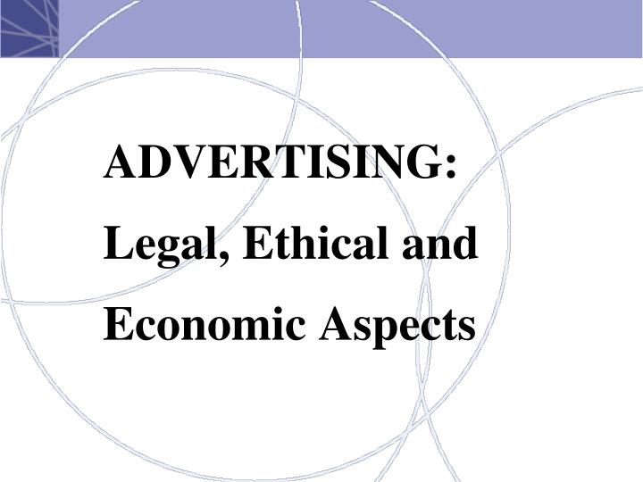 legal and ethical aspects of advertising