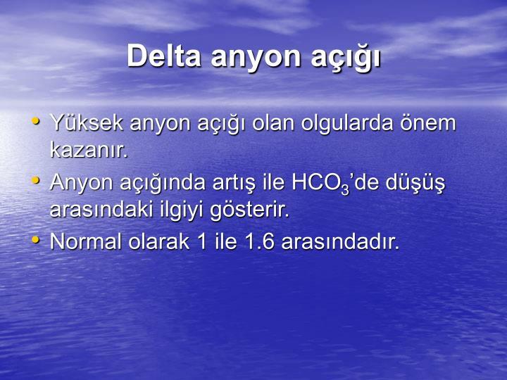 Delta anyon açığı