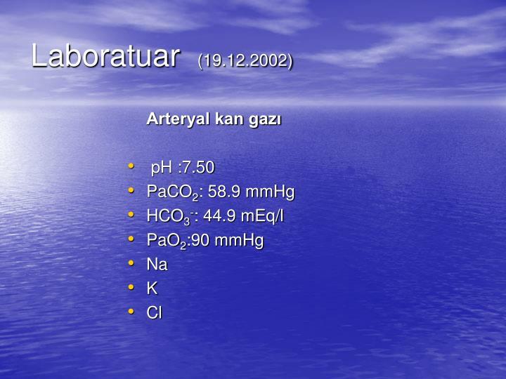 Arteryal kan gazı