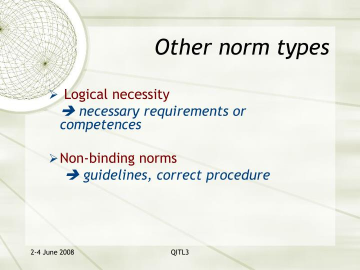 Other norm types
