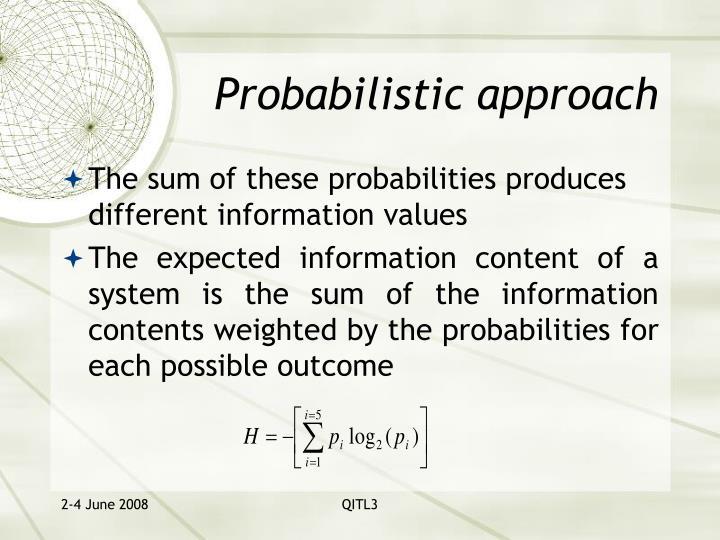 Probabilistic approach
