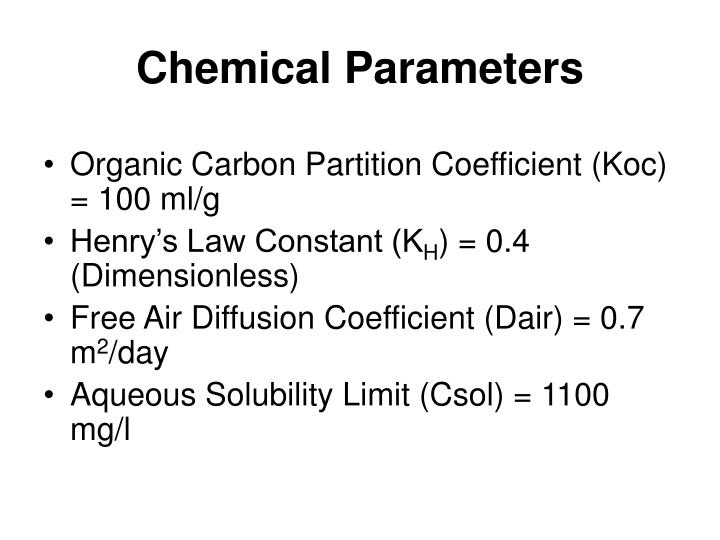 Chemical Parameters