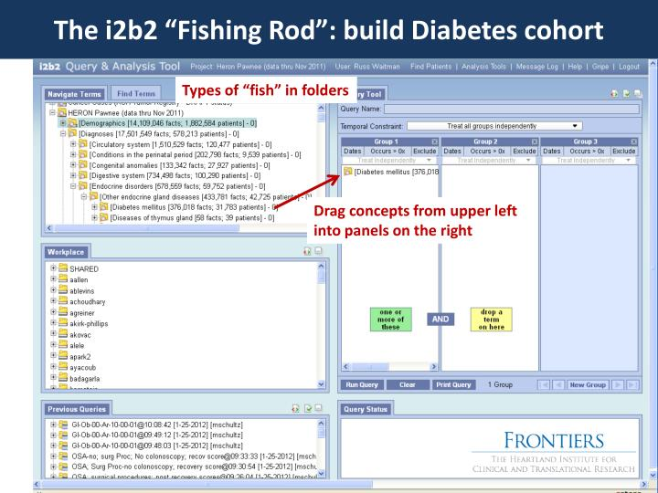 "The i2b2 ""Fishing Rod"": build Diabetes cohort"