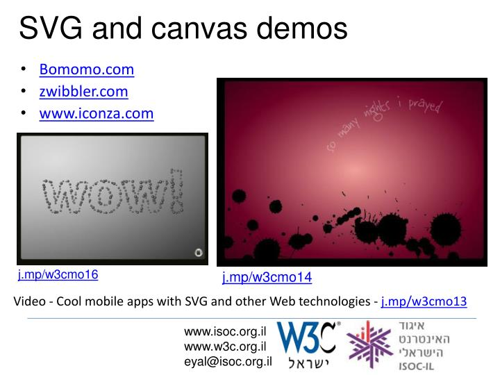SVG and canvas demos