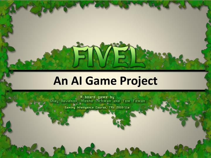 an ai game project n.