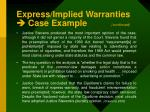 express implied warranties case example continued2
